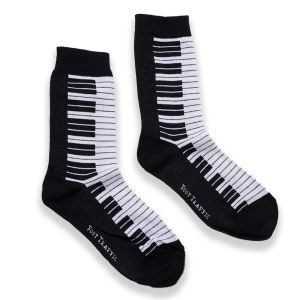 Black and White Piano Socks- Women