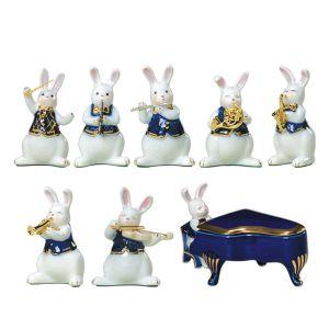 Musical Rabbit Figurines