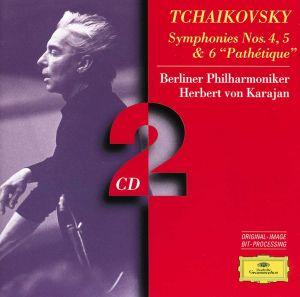 Tchaikovsky: Symphonies no 4, 5, & 6 / Karajan, Berlin PO (CD)