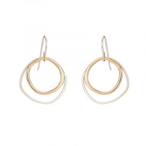 Colleen Mauer Round Square Earrings
