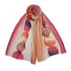 Marlena Ombre Circle Scarf - Pink