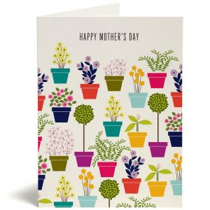 Mother's Day Card - Mom Flower Pots